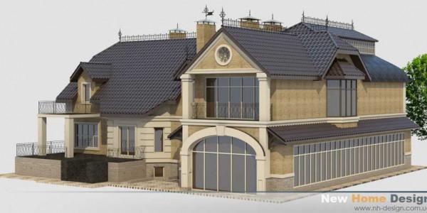 Фасад дома в Козине